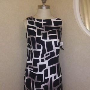 AB Studio (stretch) black and white dress